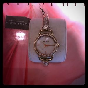 NWT Anne Klein Swarovski crystal watch